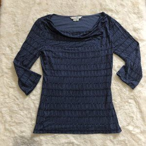 Boden 3/4 sleeve cowl neck patterned shirt size 4
